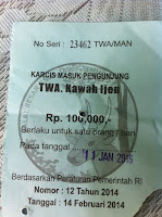 Kawah Ijen Entry Fee
