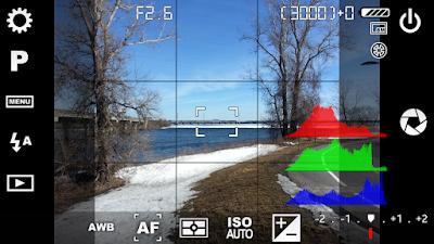 Tampilan Aplikasi Camera FV-5 Pro