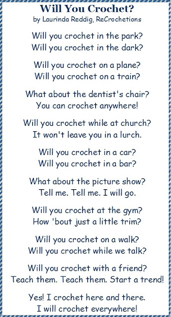Knitting Rhyme Words : Recrochetions will you crochet poem happy birthday