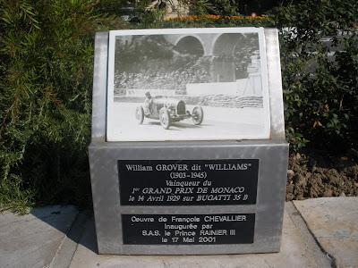 Placa conmemorativa al vencedor del 1º Gran Premio de F1 de Mónaco