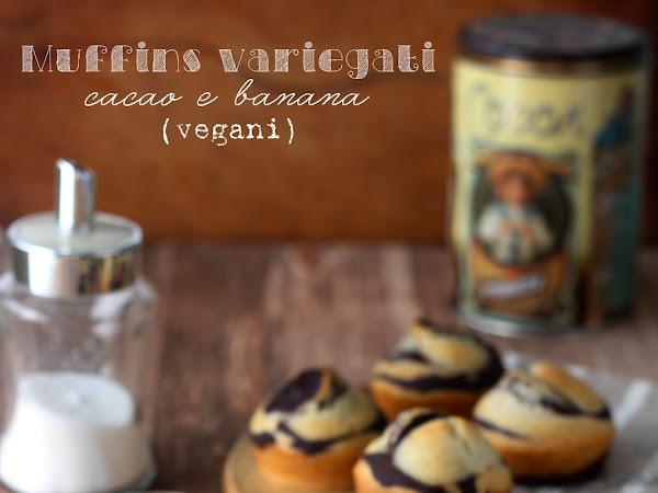 Muffins variegati cacao e banana (vegani)