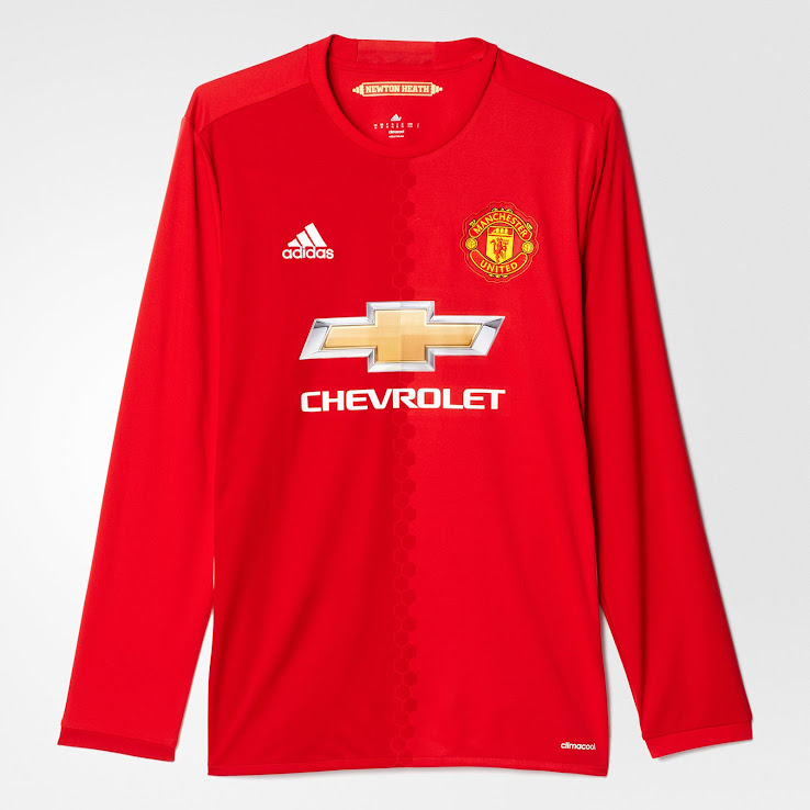 manchester united 16 17 home kit released footy headlines manchester united 16 17 home kit
