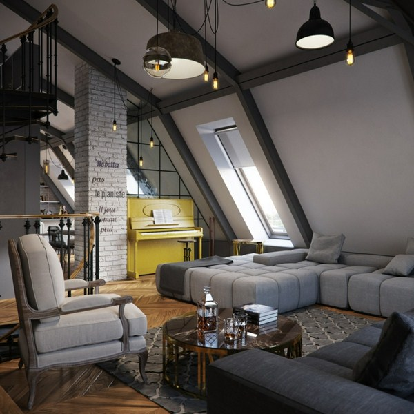 Interior Decoration Ideas Interior Designers Home Ideas Loft Style Brick Truss Plastic Larch
