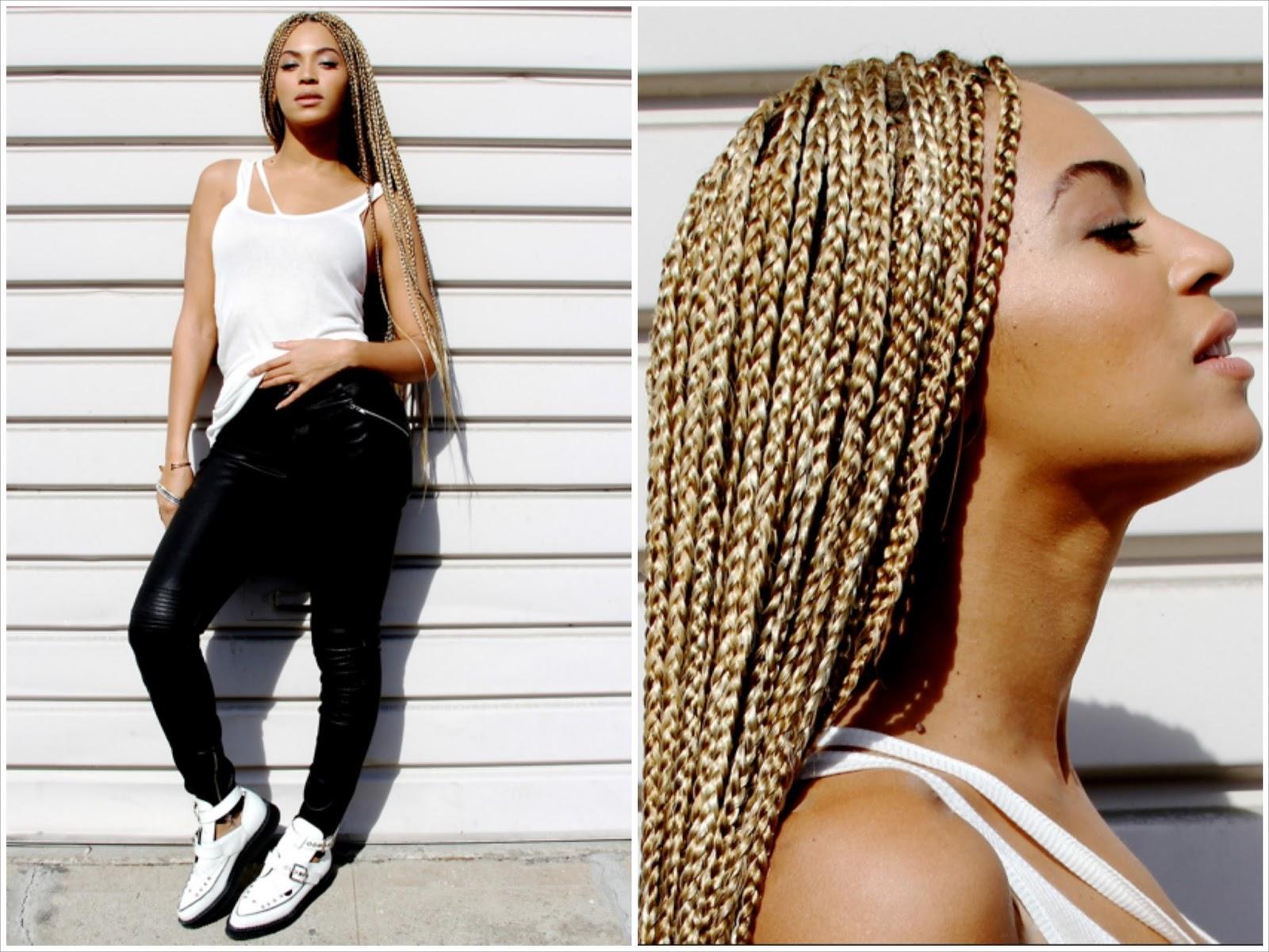 Resultado de imagem para beyonce blonde box braids