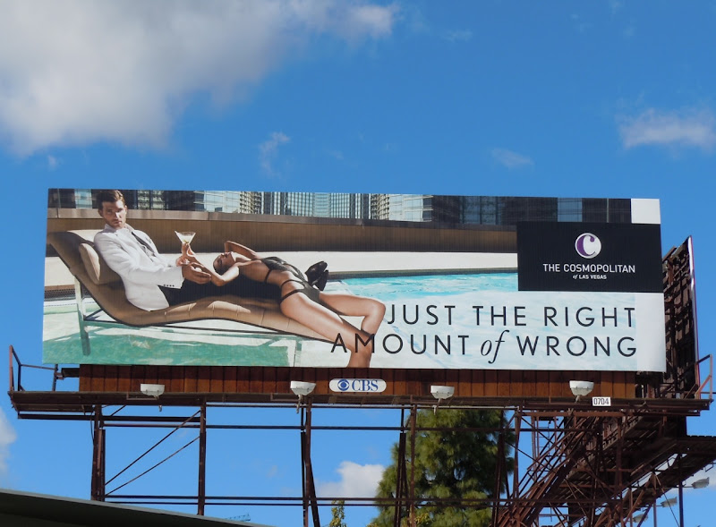 Right amount of wrong Cosmopolitan pool billboard