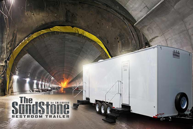Jobsite Restroom Trailers | The Sandstone in NY