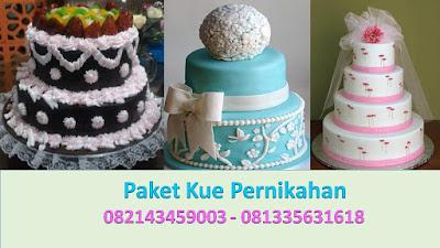 Paket Kue Tart Pernikahan Gedung