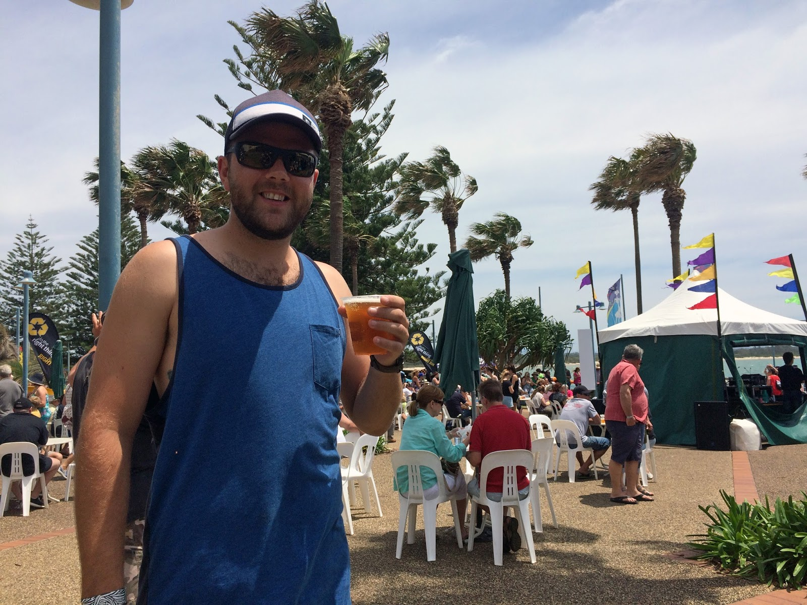 Male with beer Port Macquarie Tastings on Hastings Festival Day