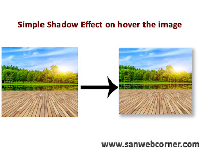 Simple shadow effect on hover image using css3