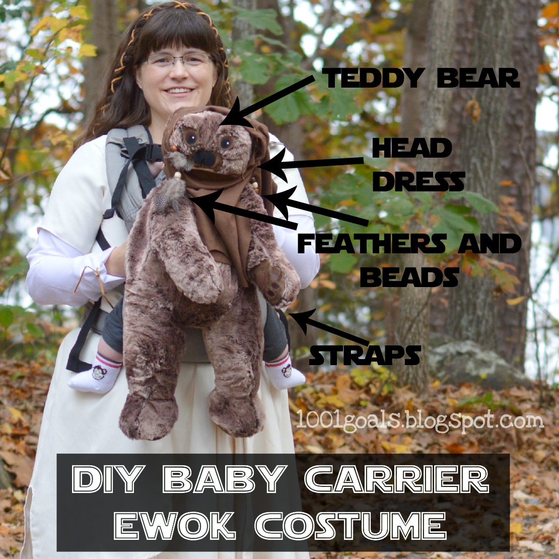 DIY Ewok Baby Carrier Costume  sc 1 st  1001 Goals & 1001 Goals: DIY Ewok Baby Carrier Costume