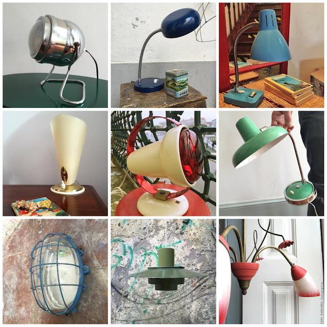 saldos vintage, Dezembro, Natal, candeeiros vintage, loja vintage