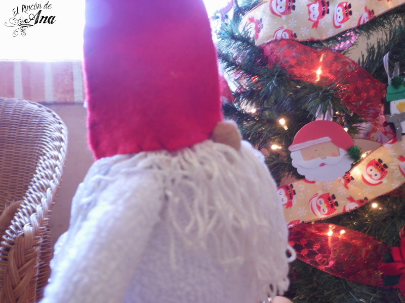 Gnomo navideño y Trufas de chocolate