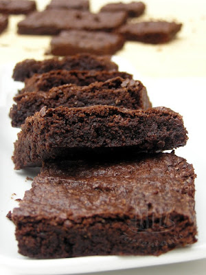 feuchte Brownies mit Schokolade