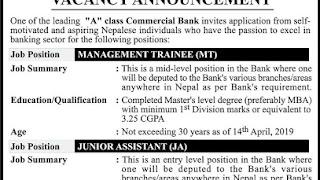 Job Vacancy Management Trainee and Junior Assistant
