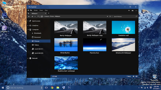 How to Enable Hidden File Explorer in Windows 10 Creators Update?