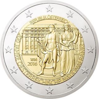2€ Banque d'Autriche 2016