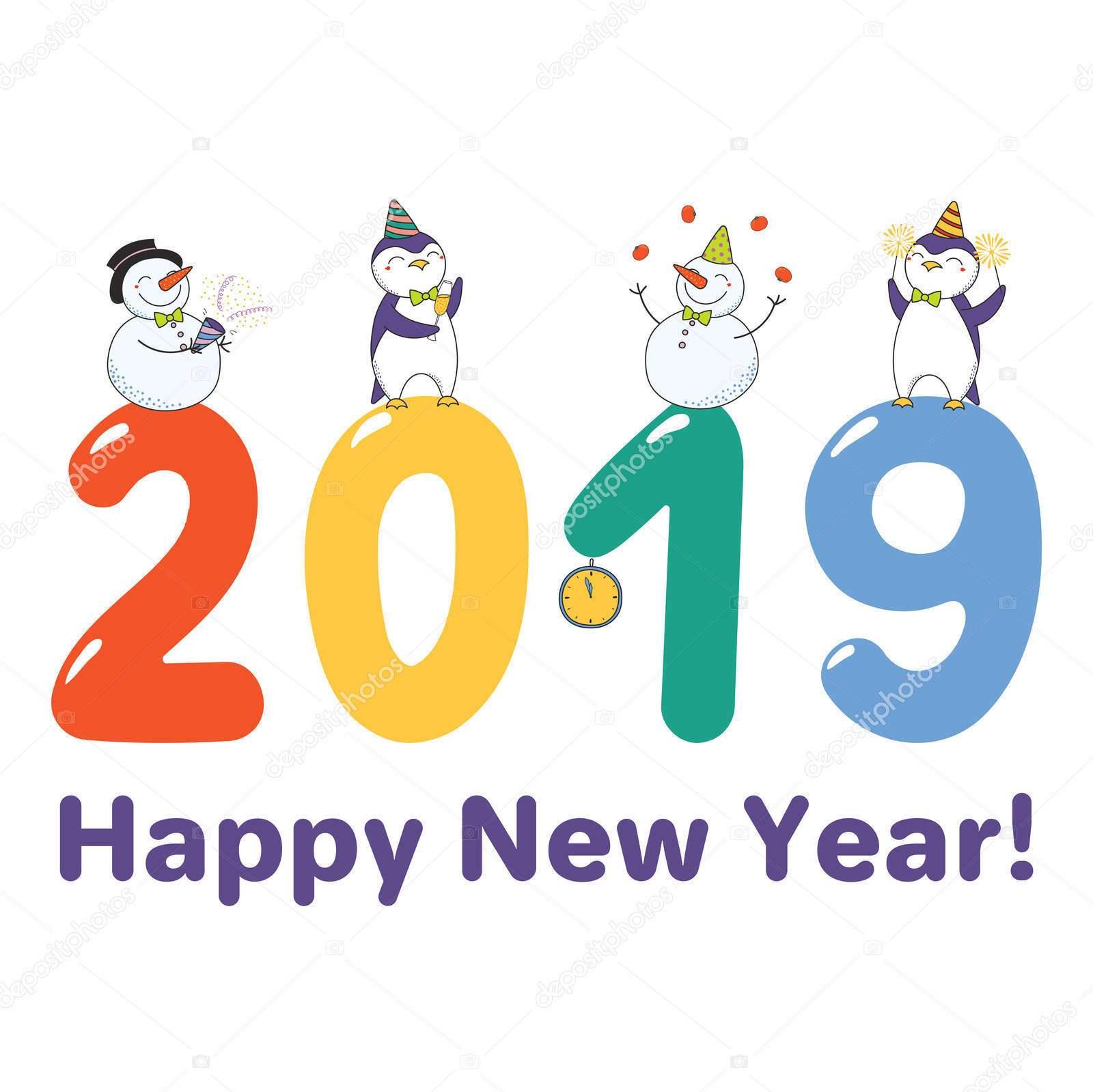 những hình ảnh dễ thương nhất về năm mới kỷ hợi 2019 hoạt hình cực đẹp, tải về điện thoại, máy tính, laptop làm ảnh đại diện cho facebook