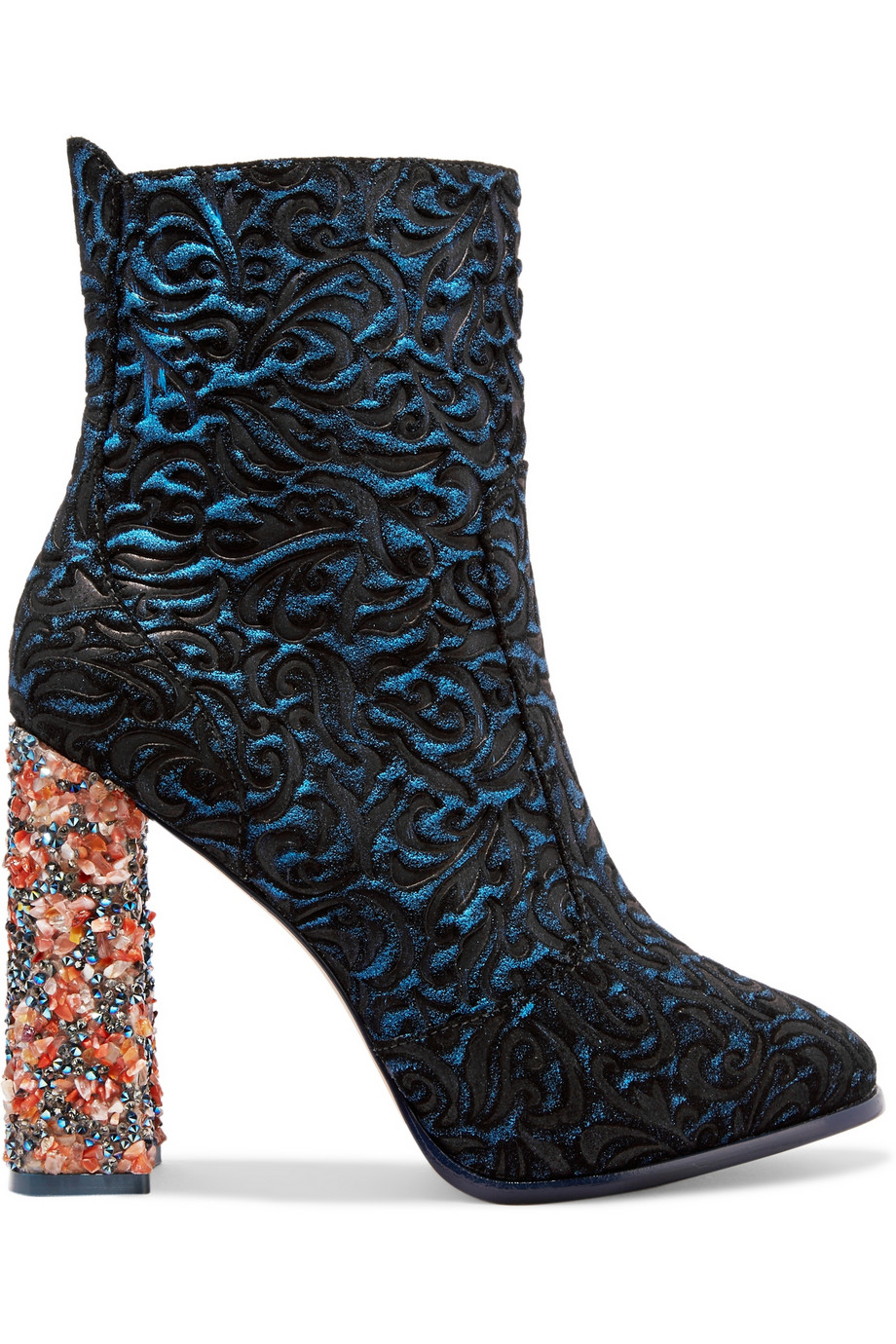 73ad1928c3de Sophia Webster Kendra jacquard-effect leather and suede ankle boots