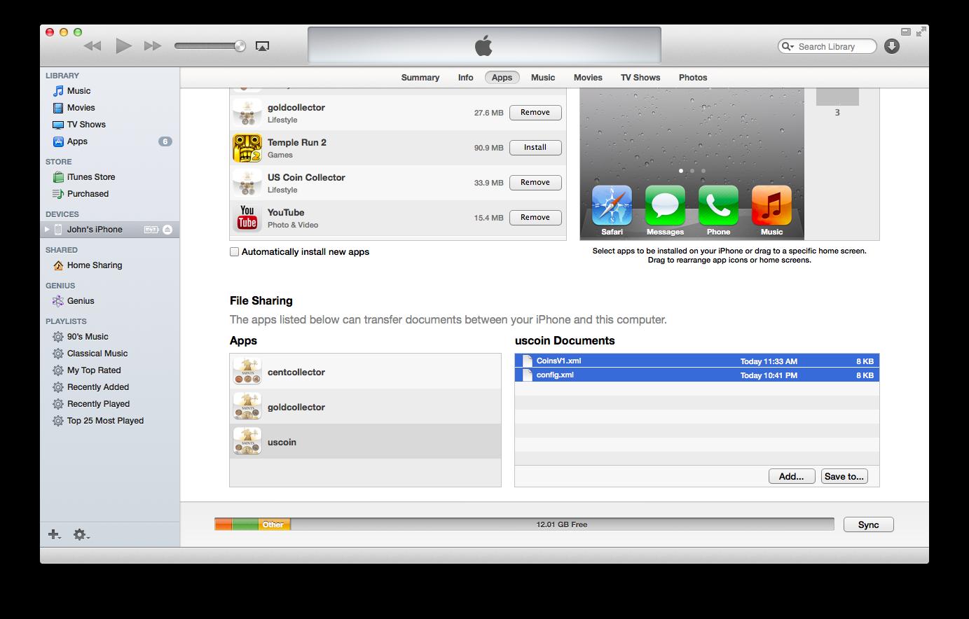 iTunes Showing Manual Backup