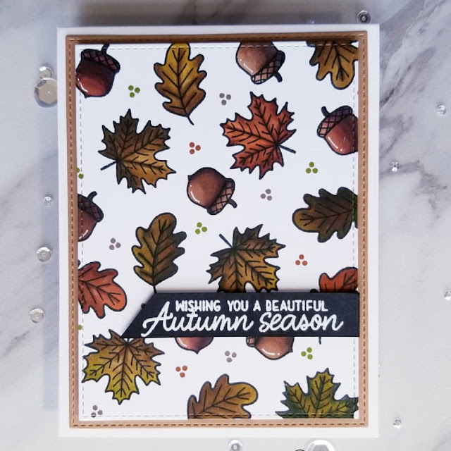 Sunny Studio Stamps: Beautiful Autumn Customer Card by Ana A