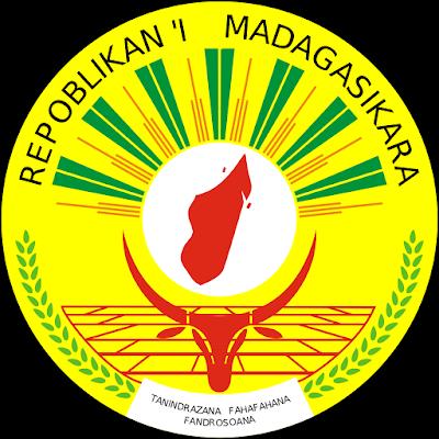 Coat of arms - Flags - Emblem - Logo Gambar Lambang, Simbol, Bendera Negara Madagaskar