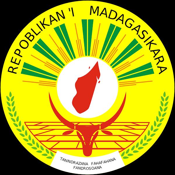 Logo Gambar Lambang Simbol Negara Madagaskar PNG JPG ukuran 600 px
