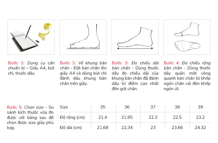 Hướng dẫn chọn size giày