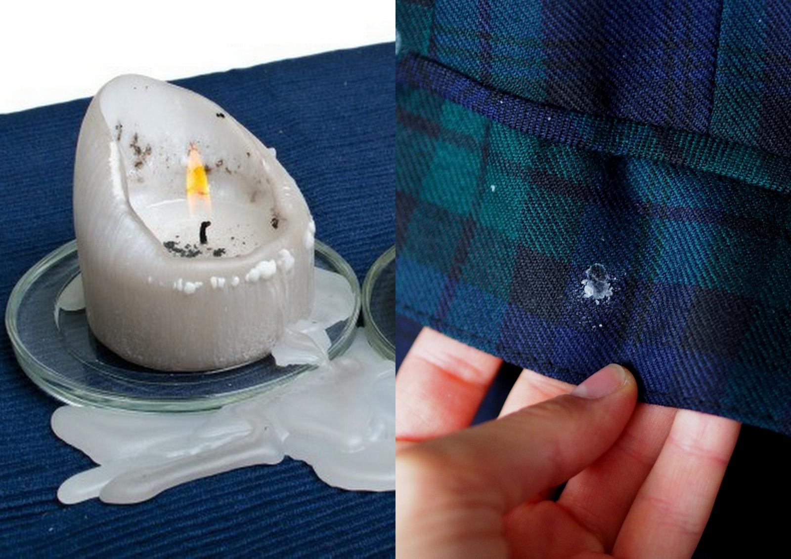 tip ako odstrániť vosk z oblečenia a textílii za pár sekúnd // how to remove candle wax from clothes