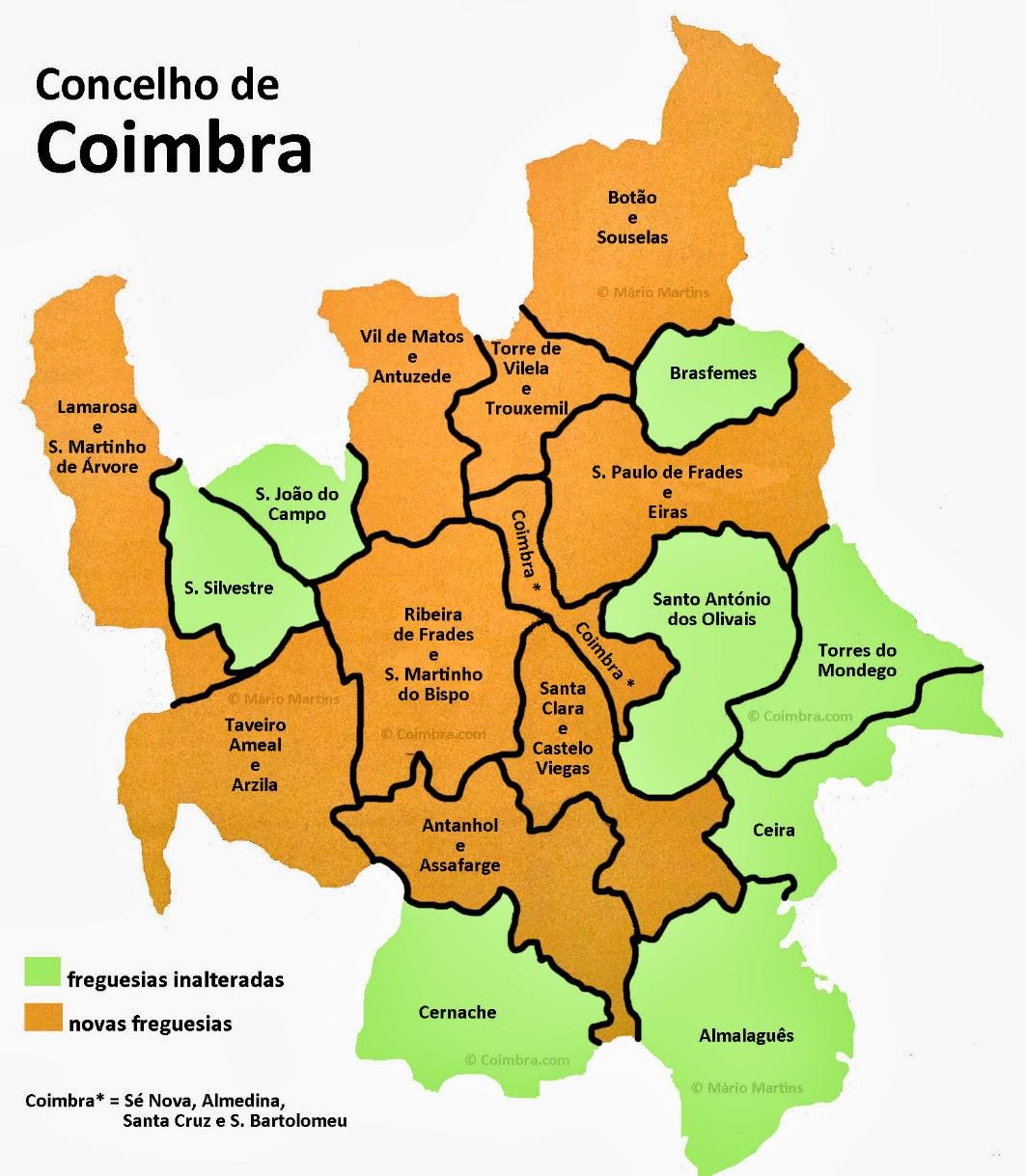 mapa das freguesias de coimbra Coimbra.com: Coimbra cresce: são 128.916 os eleitores mapa das freguesias de coimbra