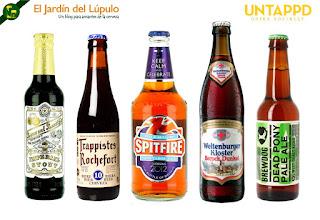5 cervezas que en nuestra opinión sin duda merecerían 5 estrellas en Untappd