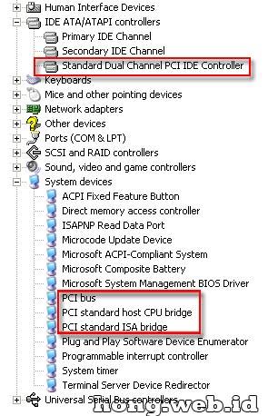 Gambar tampilan device manager