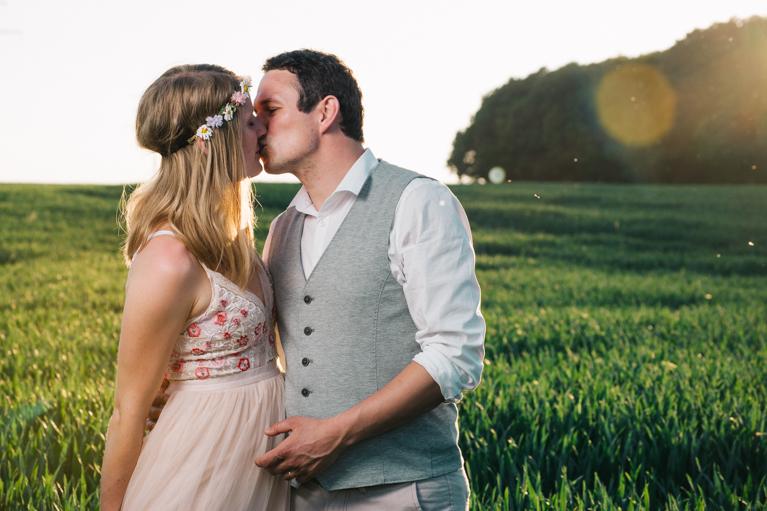 Low Budget und DIY-Hochzeit im Garten in Bayern von einer DIY-Braut