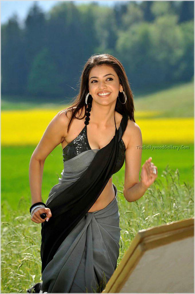 Kajal Hot in Veera song Romancing With RaviTeja