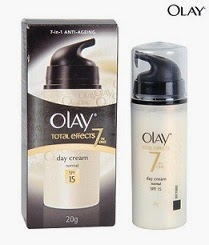 Olay Total Effects 7in One Day Cream SPF 15 (Normal) (20 g) worth Rs.349 for Rs.149 Only (Free Home Delivery)