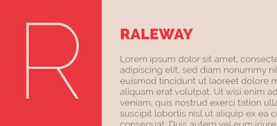 download raleway typeface
