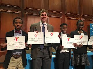 Catholic Middle School Students Recognized at YMCA Junior Youth Legislature 1