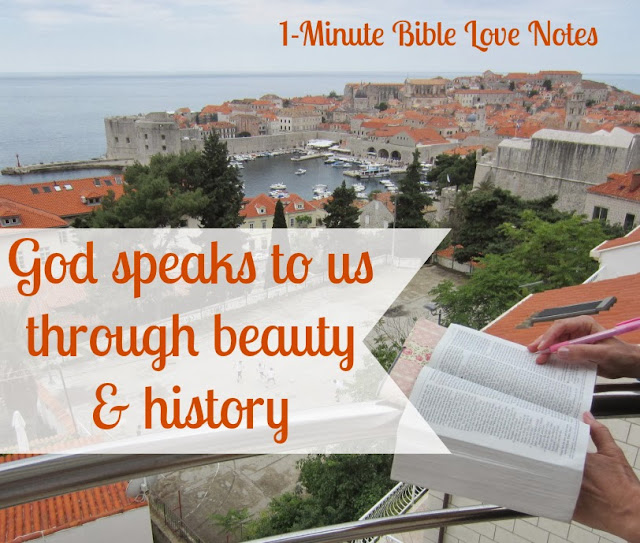 God speaks through creation and history, God gives more than we can imagine