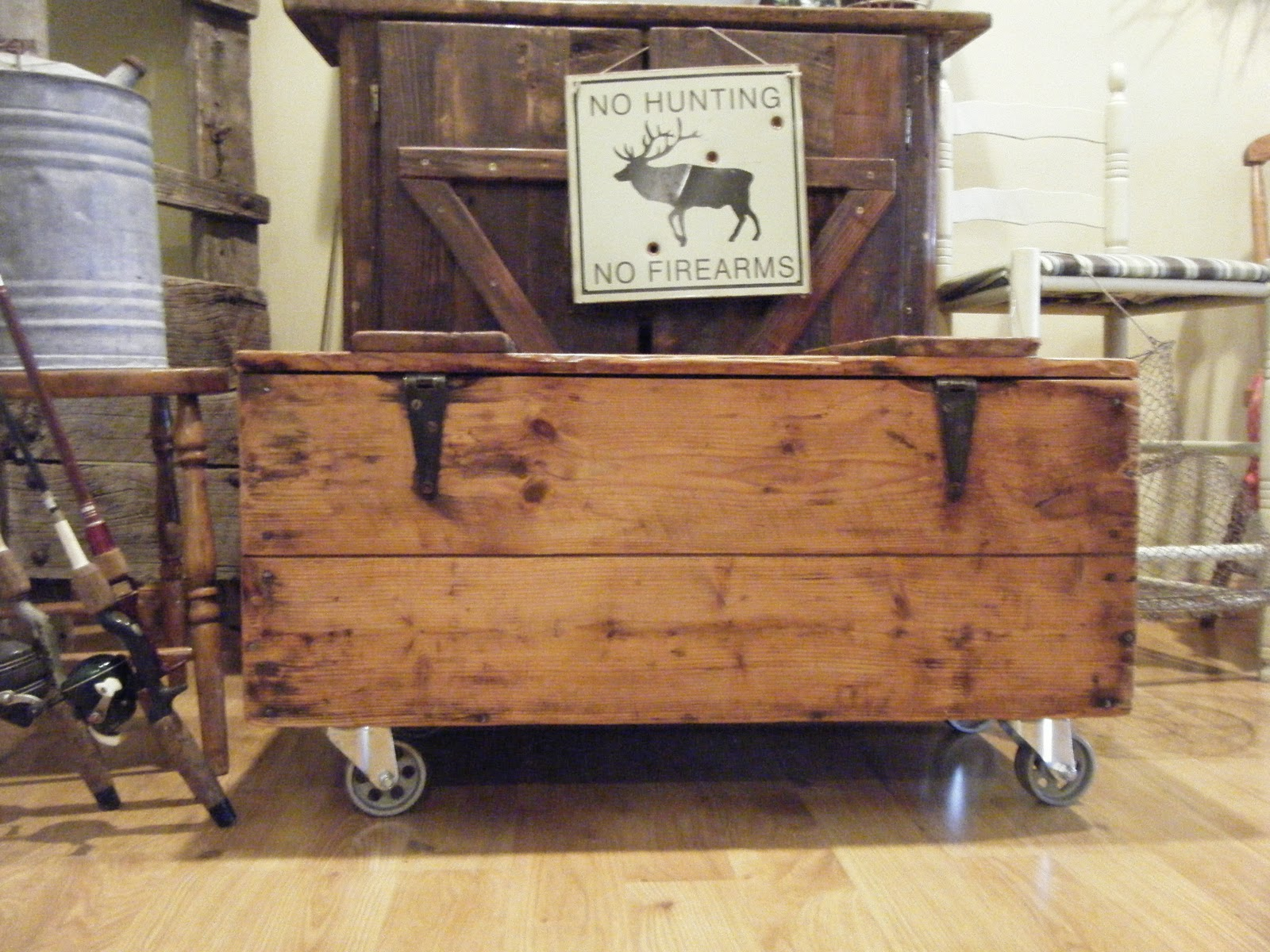 Tattered Lantern Rustic Crate Coffee Table On Casters 115 00 Obo Sold