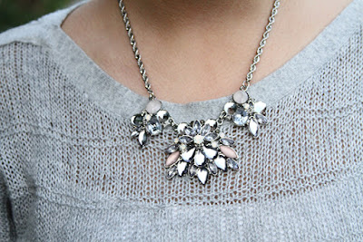 LE TOTE Pink and Silver Statement Necklace