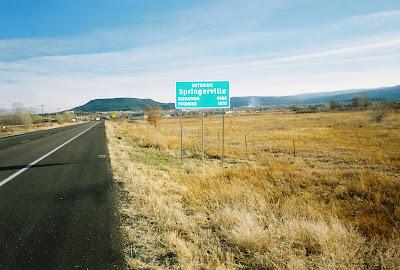 Entering Springerville Sign