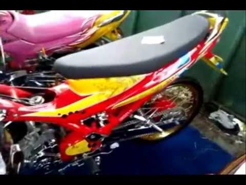 Modifikasi Motor Satria FU Airbrush