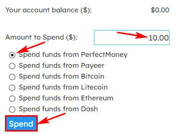 Создание депозита в Topfinance 2