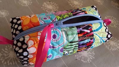 Zip pouch, patchwork