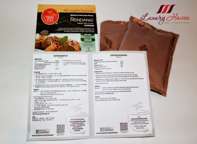 prima taste rendang meal sauce kit review