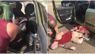 Ζευγάρι διέσωσε μωρό παγιδευμένο σε αμάξι εν μέσω καύσωνα την ώρα που οι γονείς του λιποθύμησαν από υπερβολική δόση ηρωίνης