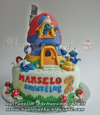 Smurf Birthday Cake And Cupcake Ideas