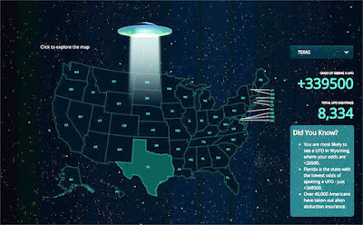 UFO sightings: The least likely state to have UFOs reported is Florida – the most likely is Wyoming.