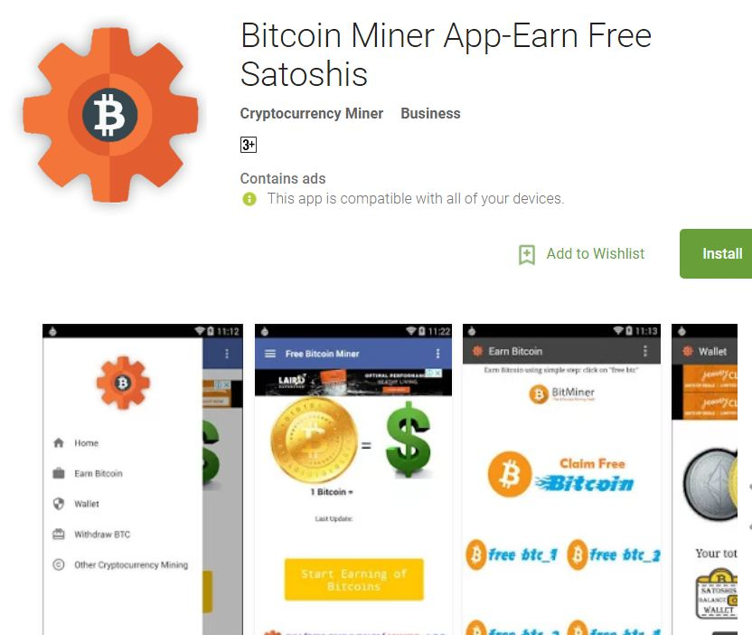 Android apps to earn bitcoin