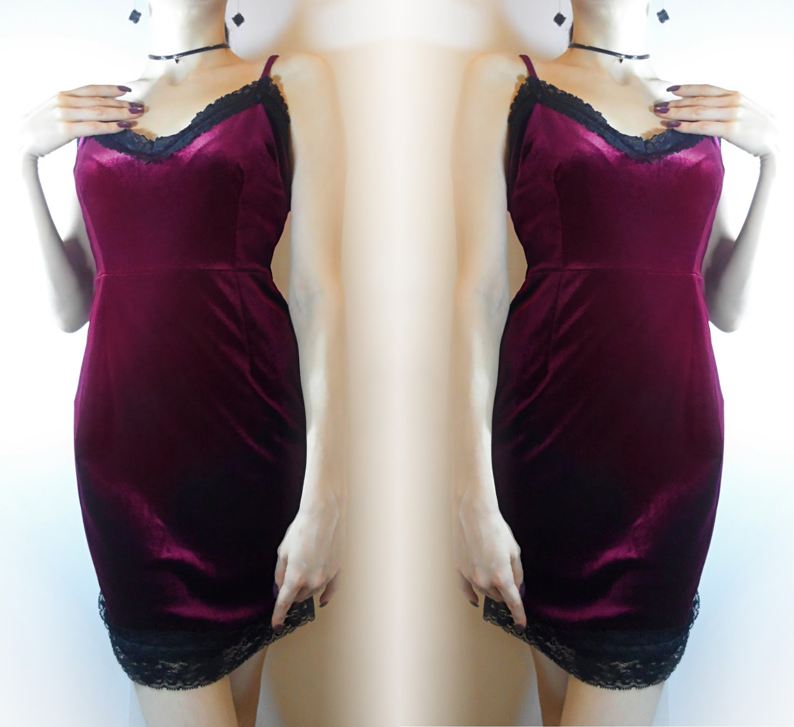 bodycon velvet 90s goth grunge dress ootd fashion liz breygel fbloggers