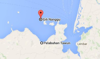Posisi Pelabuhan Tawun - Gili Nanggu